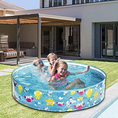 Red-eye Round Kiddie Pool,Kids Inflatable Swimming Pool Marine Ball Pool Hard Rubber Infant Tub,Kids Toy Paddling Play Ocean Ball Pools 12225CM: Home & Kitchen