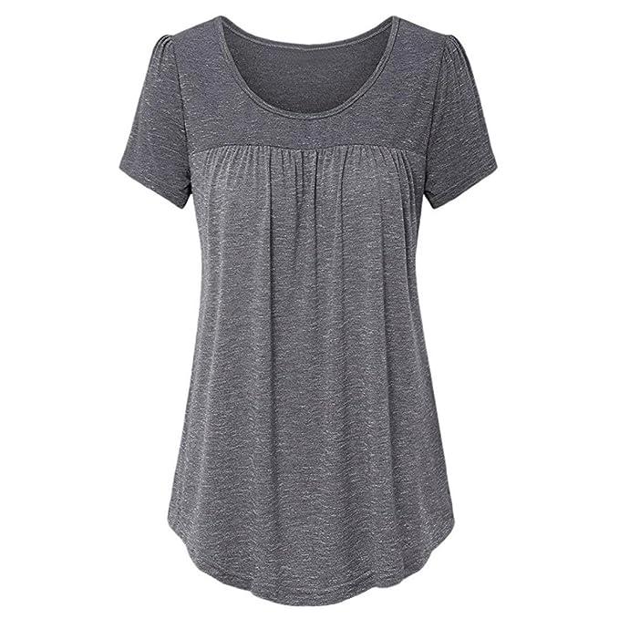 Maglietta Donna Grandi Longra Colori T Orlo Shirt Maniche Con Cotone Basic In Vari Scollo Dimensioni E Grezzo Sciolto Di Da SRwxdxf