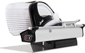 "Berkel Home Line 250 Food Slicer/Black/10"" Blade/Electric, Luxury, Premium, Food Slicer/Slices Prosciutto, Meat, Cold Cuts, Fish, Ham, Cheese, Bread, Fruit and Veggies/Adjustable Thickness Dial"