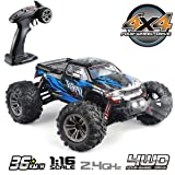 Hosim High Speed 36km/h 4WD 2.4Ghz Remote Control Truck 9130, 1:16 Scale Radio Conrtolled Off-Road RC Car Electronic…