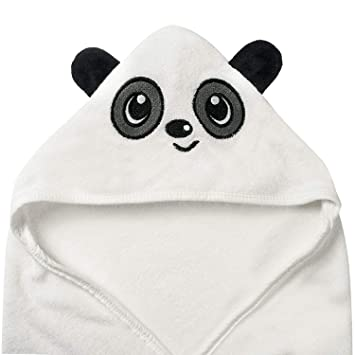 35574daf70a Amazon.com   Panda Bear Hooded Baby Towel and Washcloth Set ...