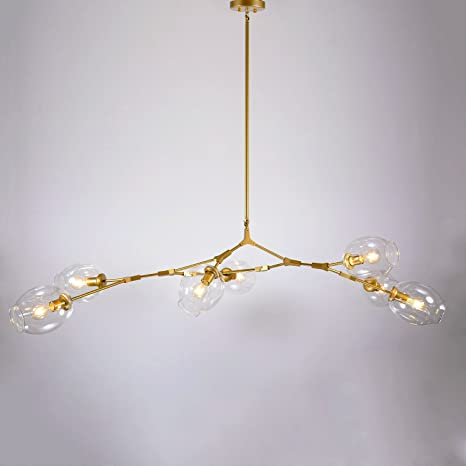 Sunwe sasha 7 light gold branching bubble chandelier clear sunwe sasha 7 light gold branching bubble chandelier clear aloadofball Choice Image