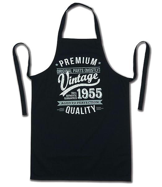 My Generation Gifts 1955 Vintage Year - Aged To Perfection - 65 Cumpleaños Regalos / 30 años Delantal para Hombre Negro