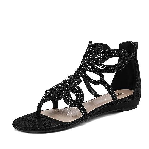ecef0644d93 Amazon.com | DREAM PAIRS Women's Jewel Rhinestones Design Ankle High ...