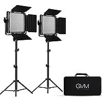 GVM 2 Pack LED Video Lighting Kits with APP Control, Bi-Color Variable 2300K~6800K with Digital Display Brightness of 10…