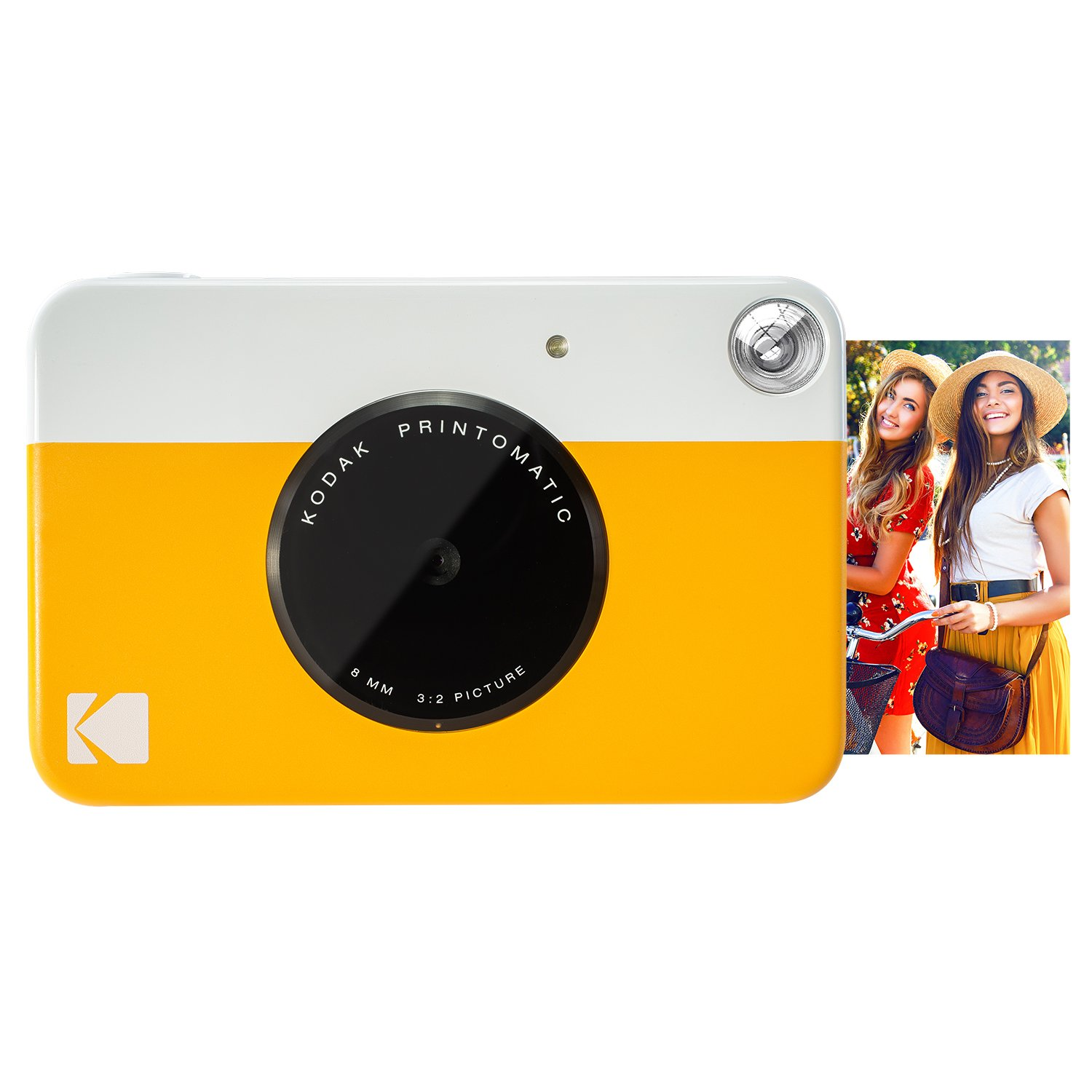 Kodak PRINTOMATIC Digital Instant Print Camera (Yellow), Full Color Prints On ZINK 2x3'' Sticky-Backed Photo Paper - Print Memories Instantly by Kodak