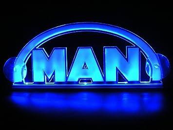 Luz de interior 3D, 24 V, LED, para camiones MAN, de neón, iluminación de la placa (azul): Amazon.es: Coche y moto