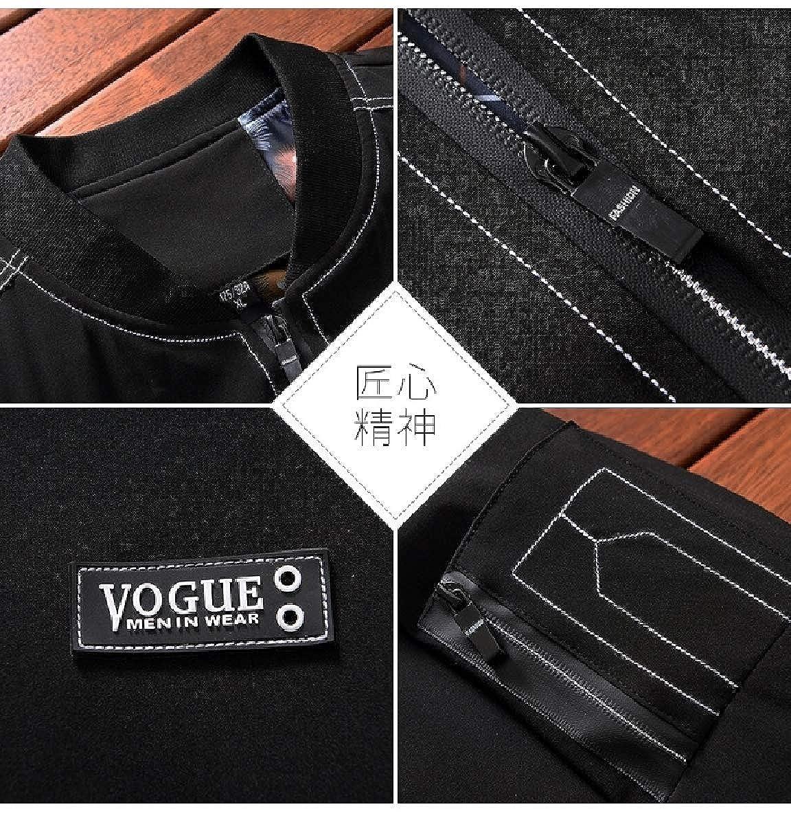 1 Zimase Men Casual Plus Size Size Size Warm Plus Velvet Zipper Cardi Coat Jacket 62b441