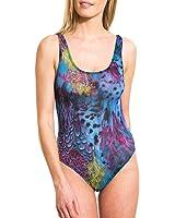Kiniki Amalfi Blue Tan Through Scoop Neck Swimsuit Swimwear