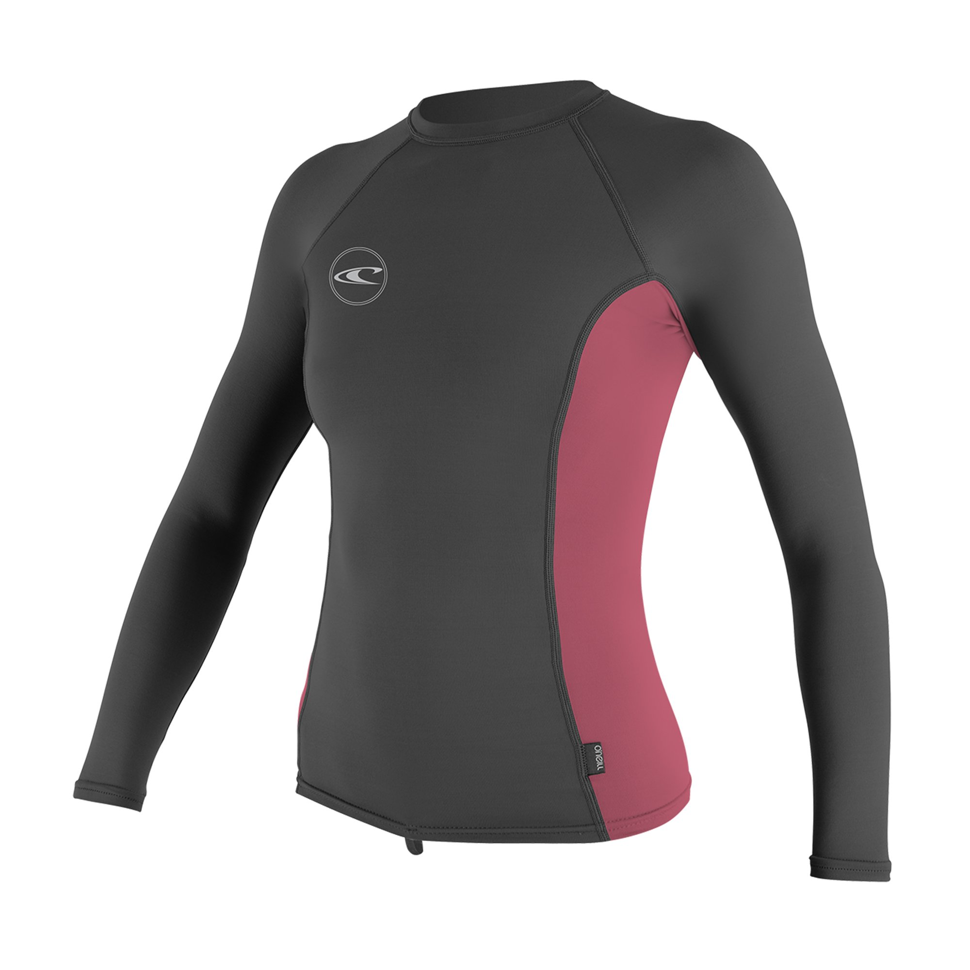 O'NEILL Women's Basic Long Sleeve Rash Guard, Graph Fox Pink, X-Small by O'NEILL