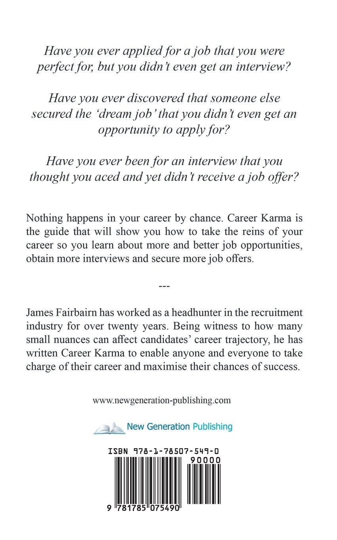 career karma james fairbairn 9781785075490 amazon com books