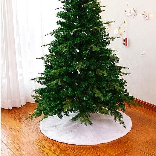 Navidad falda del árbol Falda Del Árbol De Navidad Blanco Cuadro ...