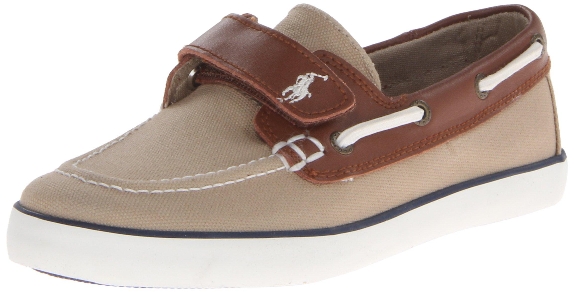 Polo Ralph Lauren Kids Sander-CL EZ Sneaker (Toddler),Khaki,6.5 M US Toddler