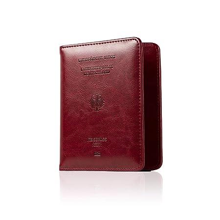 CALIPSO Reisepasshülle - Designer Travel Wallet für den Reisepass - Praktischer Passport Cover mit Zwei separaten Fächern für