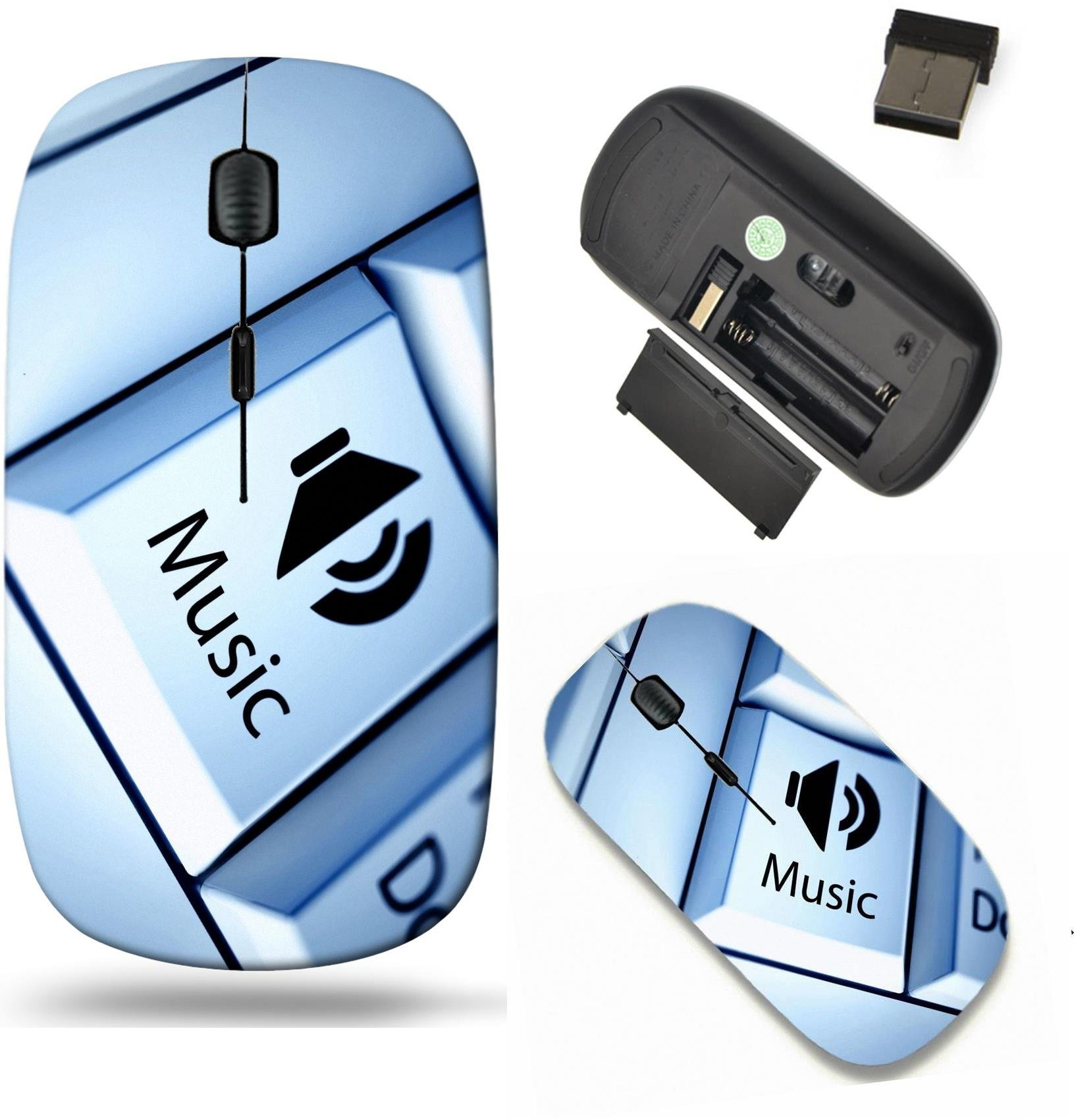 Liili Wireless Mouse Travel 2.4G Wireless Mice with USB Receiver, Click with 1000 DPI for notebook, pc, laptop, computer, mac book Keyboard with Music button entertainment concept IMAGE ID 25615932