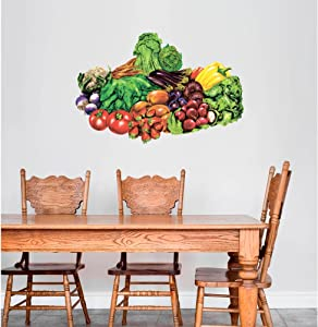 GT Graphics Colorful Fresh Vegetables - Wall Decal Wall Decoration Sticker