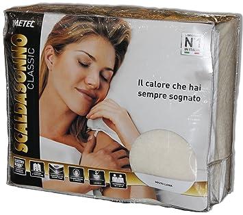 Imetec - Manta eléctrica de estilo clásico, mezcla de lana, art. 16279 - 16278 para cama individual o de matrimonio: Amazon.es: Salud y cuidado personal