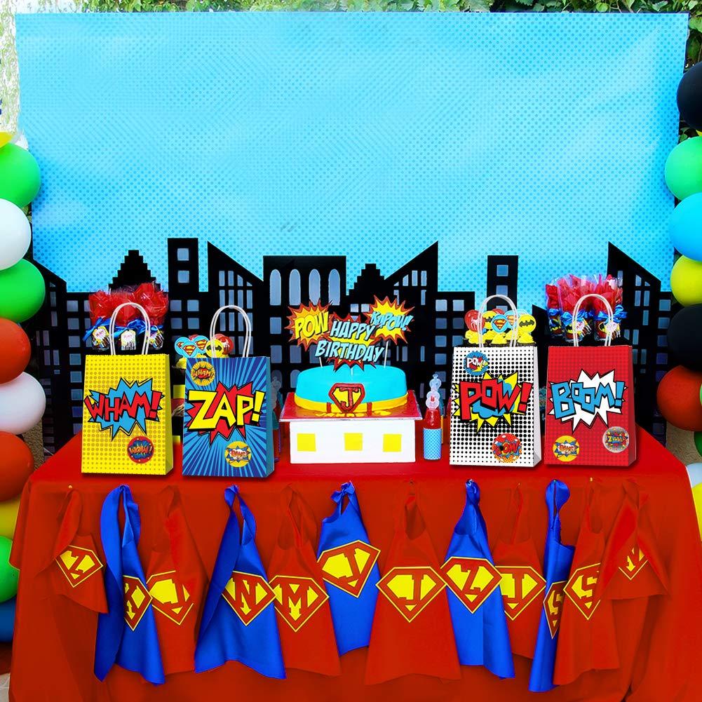 Amazon.com: Superhéroe Party Supplies Favors, 24 bolsas de ...