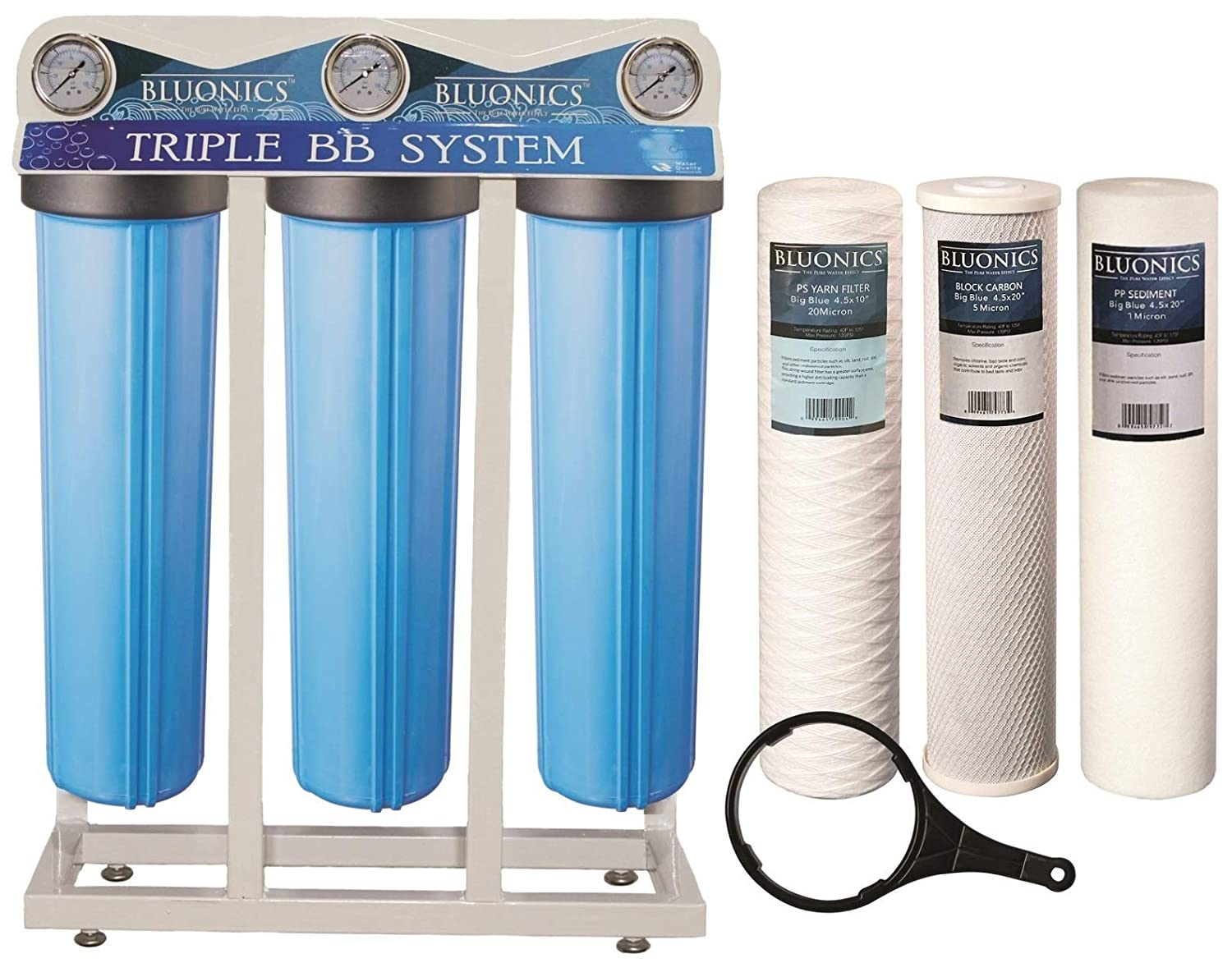 Whole House Well Water Filter–3 Stage Home Water Purifier with Big Blue  Size 4 5