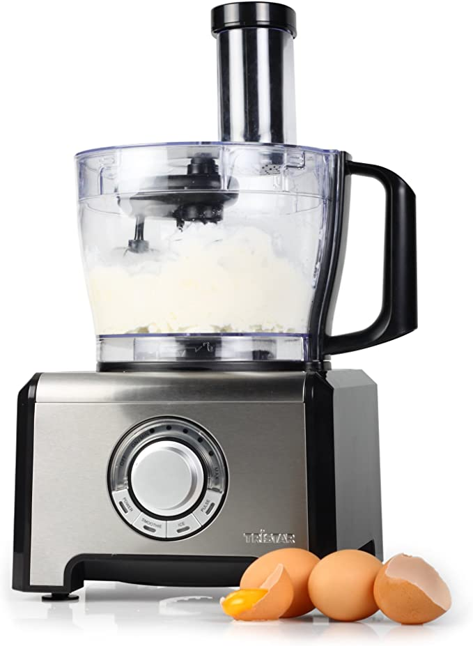 Tristar MX-4163 Robot de cocina multifunción, 12 funciones en 1, 800 W, Negro y plateado: Amazon.es: Hogar