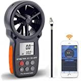 BTMETER BT-100APP Anemometer w/Wireless Bluetooth, Digital Handheld Wind Speed Meter for Wind Chill, Air Velocity, Temperatur