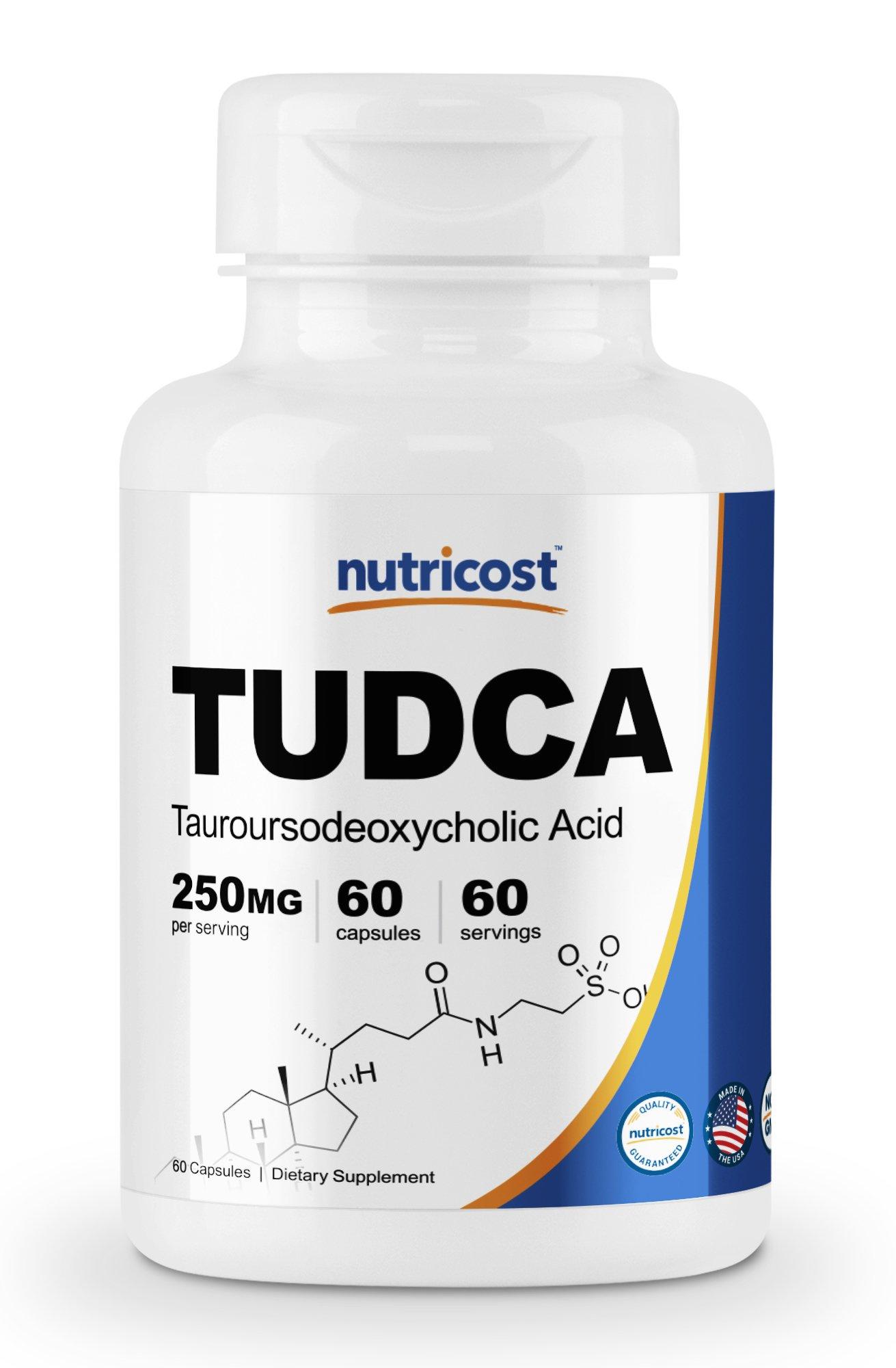 Nutricost Tudca 250mg, 60 Capsules (Tauroursodeoxycholic Acid) - Premium Quality