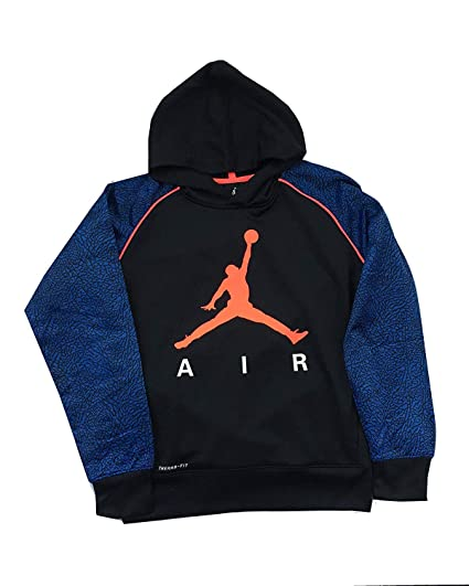 d051e7773eb954 Jordan Nike Jumpman Big Boys  Elephant Print Therma-Fit Pullover Hoodie  (Small