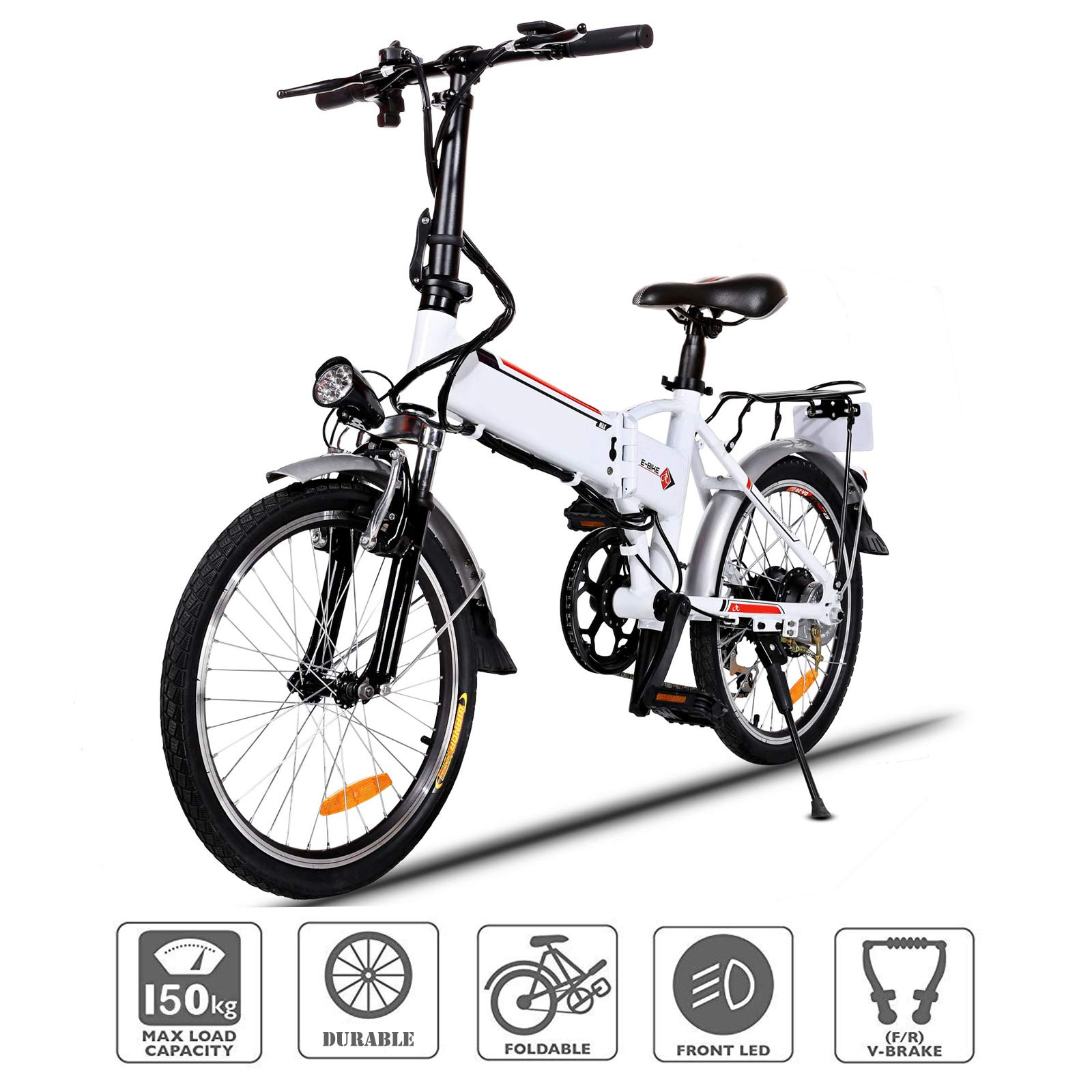 01063f2e47e Oanon Electric Bicycle Mens Mountain Bike with 36V Lithium-lon Battery,  250W Power Plus