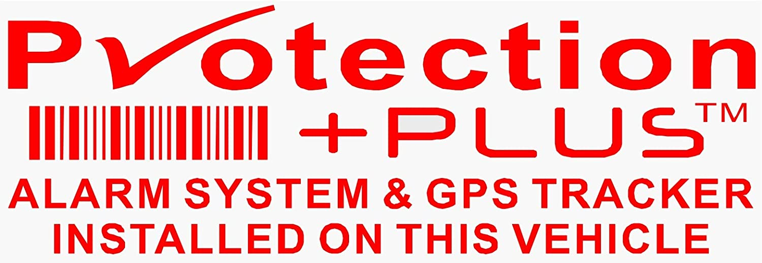4 Warning Stickers Signs GPS Tracking Alarm Device Car Vehicle Window Security