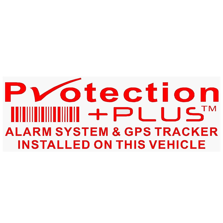 5 X protection Plus-alarm et dispositif de suivi GPS Security-red/Clear-stickers 87 x Installed on This Vehicle, van avertissement tracker Signs-platinum Place Motif Copyright, marque commerciale, sû re, Avertissements, avis, Viper, prot&