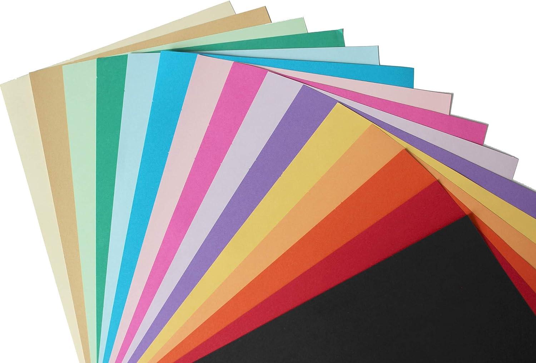 75 Blatt Buntes Papier 160g//m/² DIN A4 Bastelpapier 15 Farben Tonpapier Bastelkarton