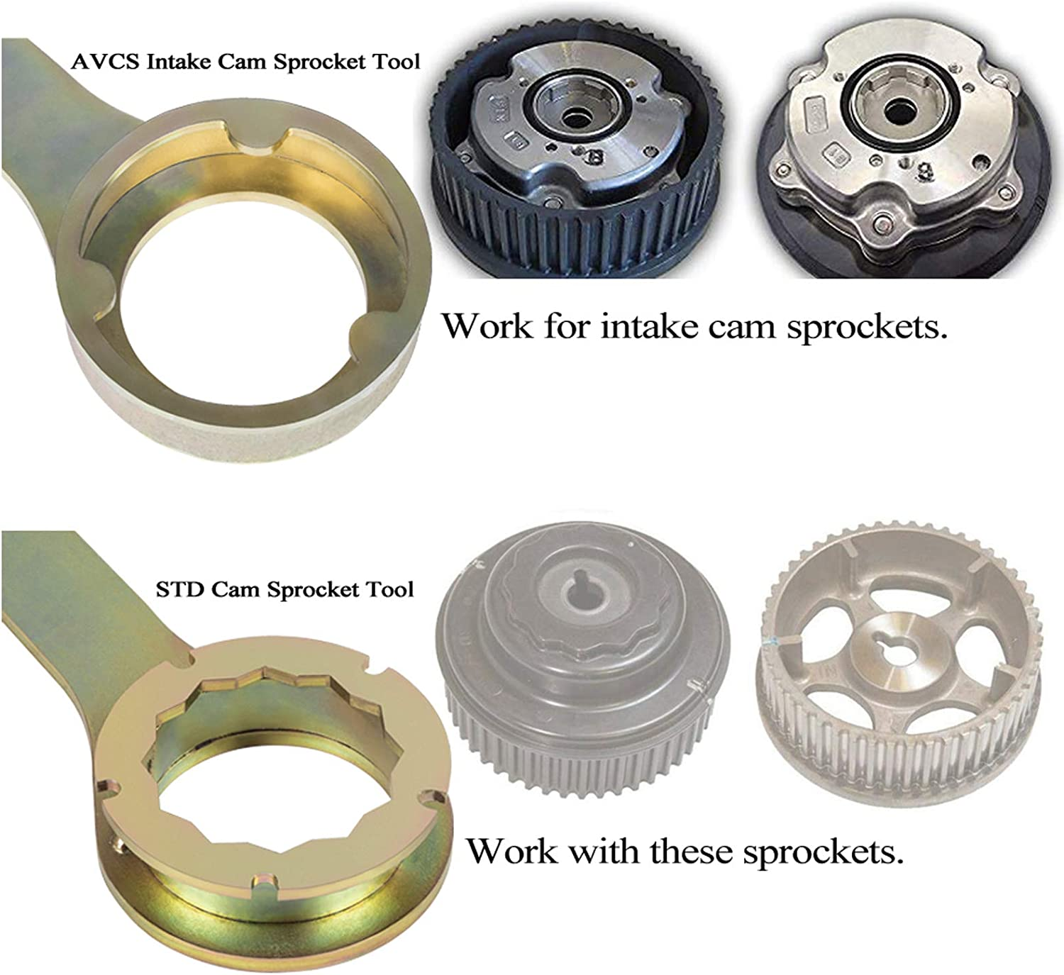 Perfect Combination Intake//Exhaust Cam Sprocket Install and Remove Wrench Tool for Subaru AVCS JDM /& STD