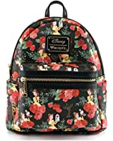 Loungefly X Disney Belle Roses AOP Mini Backpack