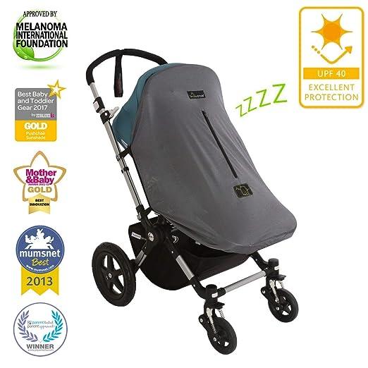 SnoozeShade Original Deluxe - Stroller Sun Shade and Baby Sleep Aid