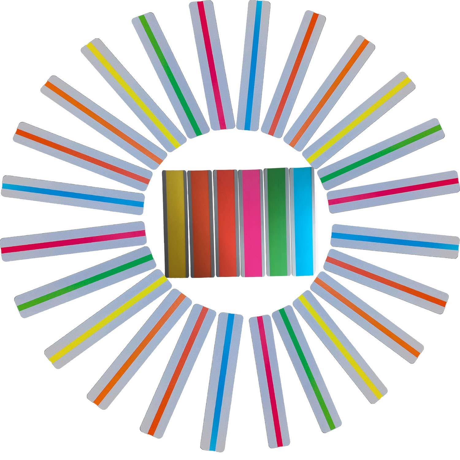 Reading Guide Strips - 30 Pack Highlighter Strips Colored Overlays Highlight Bookmarks for Children Adult with Dyslexia ADHD by Adawlert