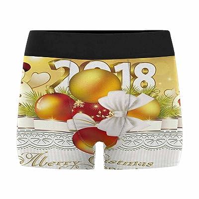 InterestPrint Boxer Briefs Men's UnderwearHappy New Year Snowman (XS-3XL)