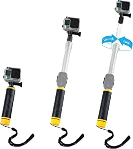 CamKix Waterproof Telescopic Pole Floating Hand Grip - Compatible with Gopro Hero 7, 6, 5, Black, Session, Hero 4, Session and DJI Osmo Action