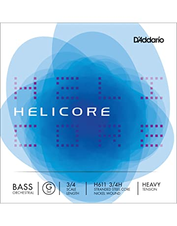 DAddario Helicore Orchestral Bass Single C Extended E Medium Tension Renewed 3//4 Scale String