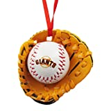 San Francisco Giants Ball and Glove Christmas Ornament by Kurt Adler