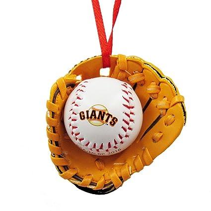 Amazon.com: San Francisco Giants Ball and Glove Christmas Ornament ...