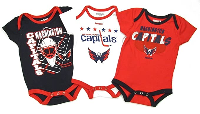 Washington Capitals Reebok 3 Point Spread 3 Piece Infant Creeper Set (18  Months) 33d3a49bf