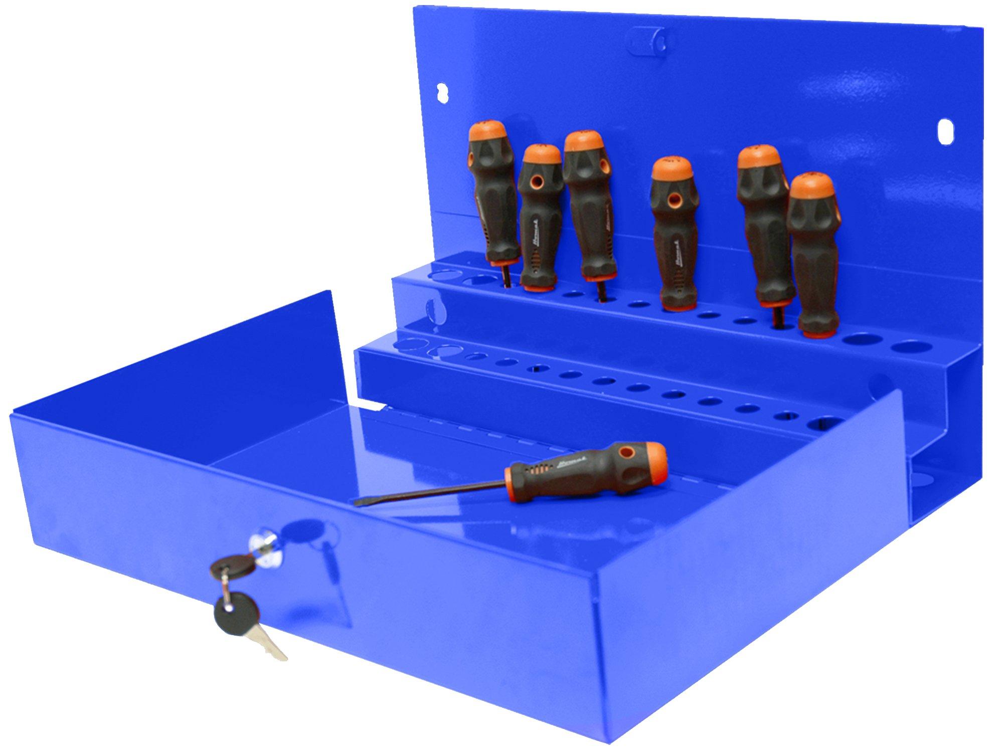 Homak 27-Inch Professional Series Locking Tool Organizer, Blue, BL08002601 by Homak Mfg. Co., Inc. (Image #1)
