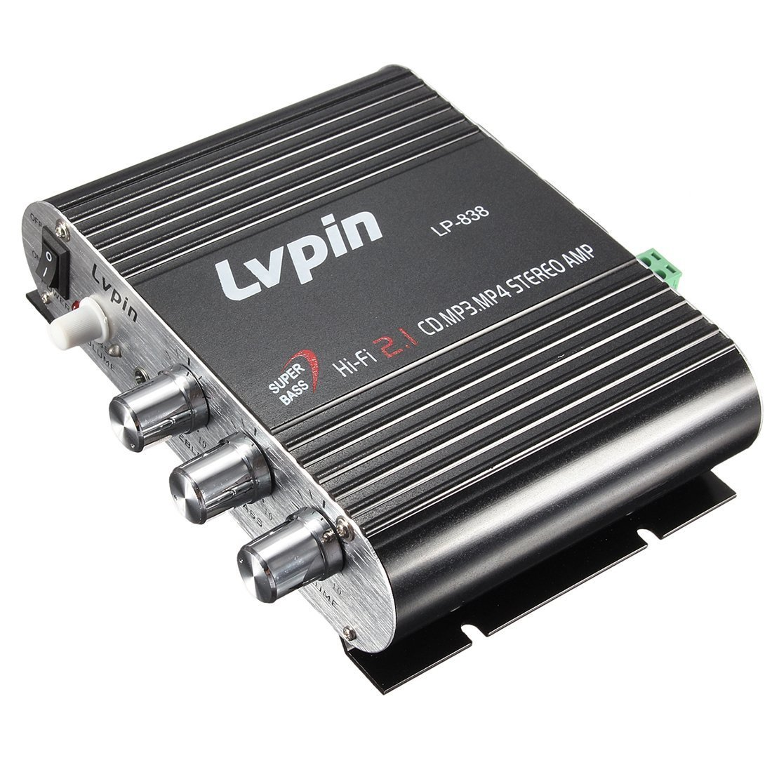 Amazon.com: Stereo Amplifier - LVPIN 12V 200W Mini Hi-Fi Stereo Amplifier MP3 Car Radio Channels 2 House Super Bass: Car Electronics