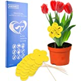 Fruit Fly Trap, Yellow Sticky Fungus Gnat Trap for Indoor and Outdoor Plant, Dual Sided Sticky Gnat Trap for White Flies, Mos