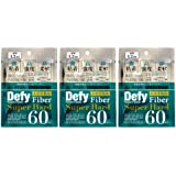 Defy ディファイ ウルトラファイバーII スーパーハード 60本入 (眼瞼下垂防止テープ) 3個セット 透明 1.2mm