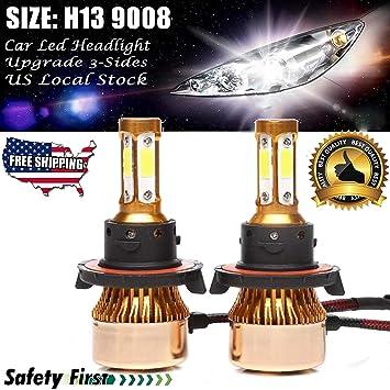 H13 9008 LED Headlight Bulbs Replacement Kit