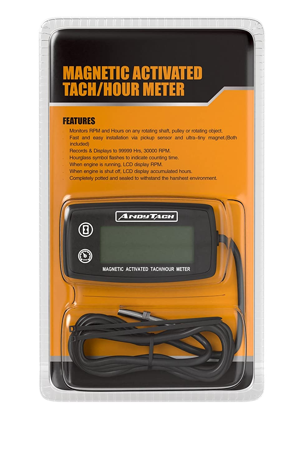Andytach Digital Tachometer Thermometer And Hour Meter Porsche Wiring Diagram Tach Air Cooled Engine Automotive