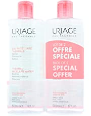 Uriage térmica Micellar Agua para pieles sensibles, 500ml, pack de 2