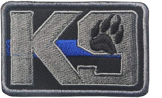Ohrong K9 - Brazalete con parche táctico bordado con diseño de pata de perro, color azul: Amazon.es: Hogar