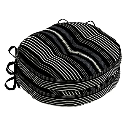 amazon com set of 2 15 outdoor round bistro chair cushions seat